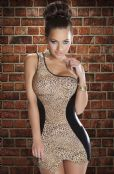 'Avanua Lingerie' Leo Animal Print Club Dress with Single Strap ( UK 18-20 )